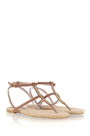 Maluo |  Leather sandals Marie | brown  | Picture 4