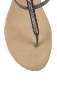 Maluo | Leren sandalen Marie | grijs  | Afbeelding 6