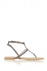 Maluo | Leren sandalen Marie | grijs  | Afbeelding 1