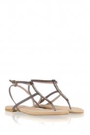 Maluo | Leren sandalen Marie | grijs  | Afbeelding 4