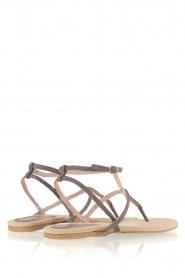 Maluo | Leren sandalen Marie | grijs  | Afbeelding 5