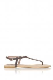 Maluo | Leren sandalen Mabel | grijs  | Afbeelding 1