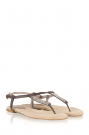 Maluo | Leren sandalen Mabel | grijs  | Afbeelding 4