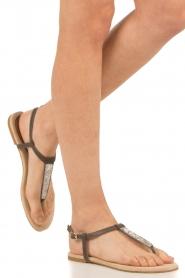 Maluo | Leren sandalen Mabel | grijs  | Afbeelding 2