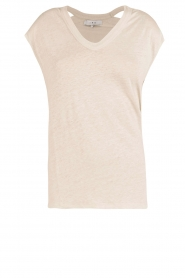 IRO |  linen lace-up top Ibex | light grey  | Picture 1