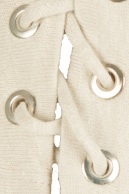 IRO |  linen lace-up top Ibex | light grey  | Picture 6