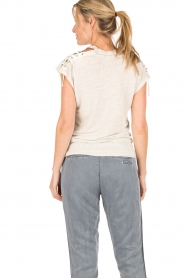 IRO |  linen lace-up top Ibex | light grey  | Picture 5