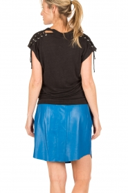 IRO |  linen lace-up top Ibex | black  | Picture 5