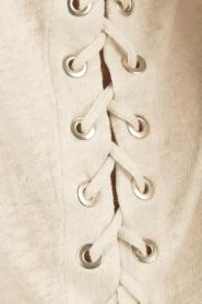 IRO | Linnen lace-up top Irys | licht grijs  | Afbeelding 6