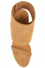 IRO | Suède peep toe sandalen Sigoat | camel  | Afbeelding 6