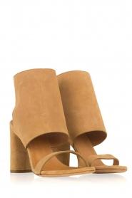 IRO | Suède peep toe sandalen Sigoat | camel  | Afbeelding 4