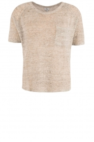 RAILS |  Linen semi-sheer sweater Omi | grey  | Picture 1