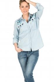 RAILS | Denim blouse Bret | blauw | Afbeelding 2