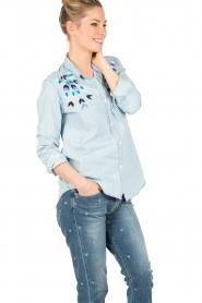 RAILS | Denim blouse Bret | blauw  | Afbeelding 4