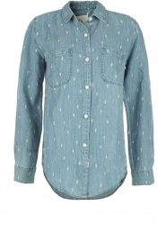 Denim blouse Carter Cactus | blauw
