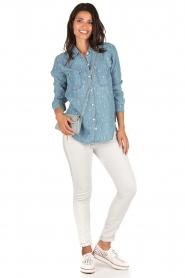 RAILS | Denim blouse Carter Cactus | blauw  | Afbeelding 3