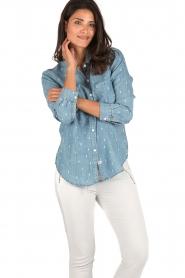 RAILS | Denim blouse Carter Cactus | blauw  | Afbeelding 2
