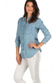 RAILS | Denim blouse Carter Cactus | blauw  | Afbeelding 4