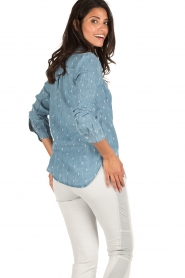 RAILS | Denim blouse Carter Cactus | blauw  | Afbeelding 5