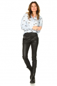 Ibana |  Leather pants Colette | black  | Picture 3