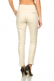 Ibana |  Leather pants Colette | white  | Picture 4