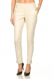 Ibana |  Leather pants Colette | white  | Picture 2