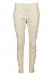 Ibana |  Leather pants Colette | white  | Picture 1