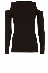 Deblon Sports | Sporttop Open Shoulders |  zwart  | Afbeelding 1