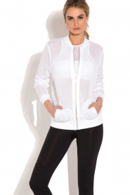 Beta Studios |  Sport bomber jacket Mesh | white  | Picture 2