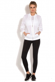 Beta Studios |  Sport bomber jacket Mesh | white  | Picture 3