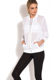 Beta Studios |  Sport bomber jacket Mesh | white  | Picture 4