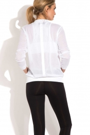 Beta Studios |  Sport bomber jacket Mesh | white  | Picture 5