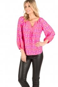 Alice & Trixie | Zijden blouse Ashley | roze  | Afbeelding 2