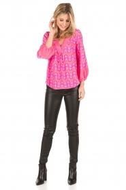 Alice & Trixie | Zijden blouse Ashley | roze  | Afbeelding 3