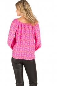 Alice & Trixie | Zijden blouse Ashley | roze  | Afbeelding 5