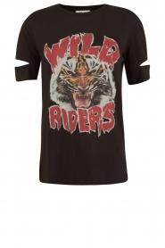 Zoe Karssen | T-shirt Wild Riders | zwart  | Afbeelding 1