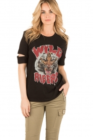 Zoe Karssen | T-shirt Wild Riders | zwart  | Afbeelding 2