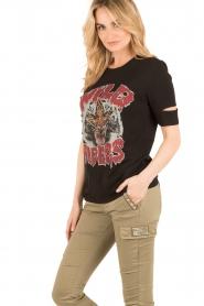 Zoe Karssen | T-shirt Wild Riders | zwart  | Afbeelding 4
