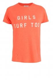 Zoe Karssen | T-shirt Raglan | neon oranje  | Afbeelding 1