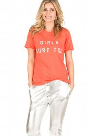 Zoe Karssen | T-shirt Raglan | neon oranje  | Afbeelding 2