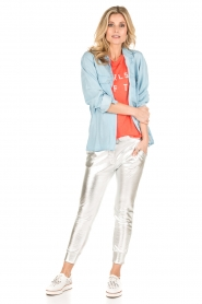 Zoe Karssen | T-shirt Raglan | neon oranje  | Afbeelding 3
