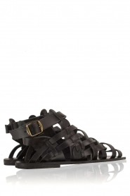 Nulla Nomen |  Leather sandals Rina | black  | Picture 5