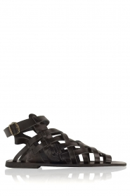 Nulla Nomen |  Leather sandals Rina | black  | Picture 1
