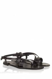 Nulla Nomen |  Leather sandals Bo | black  | Picture 4