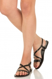 Nulla Nomen |  Leather sandals Bo | black  | Picture 2