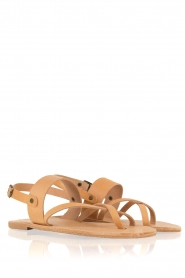 Nulla Nomen |  Leather sandals Gratia | camel  | Picture 4