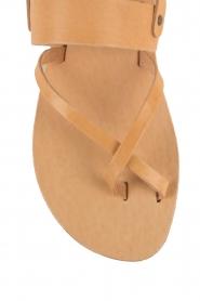 Nulla Nomen |  Leather sandals Gratia | camel  | Picture 6