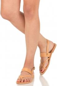 Nulla Nomen |  Leather sandals Gratia | camel  | Picture 2