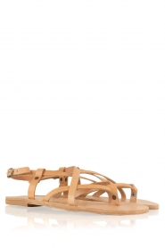 Nulla Nomen |  Leather sandals Lua | camel  | Picture 4