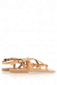 Nulla Nomen |  Leather sandals Lua | camel  | Picture 5